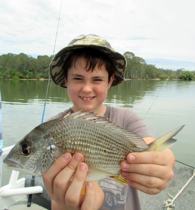 Nathan from Mackay caught a ripper 32cm Bream at the ferry crossing aboard the Noosa Fishing and Crab Adventures early this week